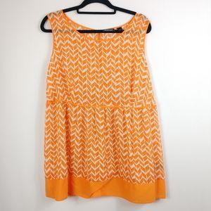 The Avenue Sheer Orange Top 18/20